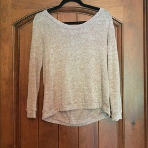Sweater with cutout back